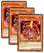 Set 3x DRAGO DI MAGMA Dragon CROS-IT034 Comune in Italiano YUGIOH