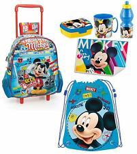 198be6a7d27856 Mickey Mouse Topolino Disney Set 6pezzi Zainetto Zaino Trolley , scuola  asilo