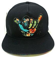 HAWAII SHAKA Snapback Cap Hat Hawaiian Floral Aloha Hang Loose 100% Cotton New