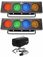 2) Chauvet DJ BANK Party Lights w/Automated Sound Activated Programs+Fog Machine