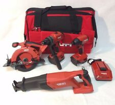 HILTI 18V CORDLESS 4 Tool Li-Ion COMBO 21.6v Kit Set 2 5.2Ah Batteries NEW