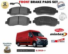 FOR VAUXHALL OPEL MOVANO 2.3 CDTI 2010--> NEW FRONT BRAKE DISC PADS SET