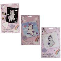 Girls Unicorn Cross Stitch Kit Art & Craft Activity Sequin Window Art Xmas Gifts