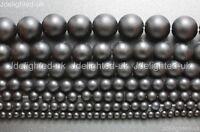 "Natural Matte Black Onyx Gemstone Round Beads 4mm 5mm 6mm 8mm 10mm 12mm 15.5"""