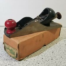 "Vintage Used Dunlap 3185 Block Plane 7"" Carpentry Tool Planer Germany w/Box"