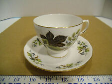 Vintage English Queen Anne Bone China Tea Cup & Saucer Set, Pattern #8285 - EUC