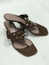 Prada Sandals 39 Studded Kitten Heels Flip Flops 8.5 9