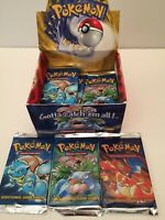 One Pack Pokemon BASE SET   Booster Packs, 1999 from New Box, UNWEIGHED