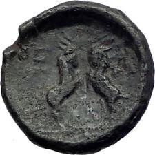 Amphipolis Macedonia 187BC Ancient Greek Coin ZEUS GOAT BATTLE Rare  i73192