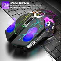 X13 Wireless Gaming Mouse USB Rechargeable 2.4GHz USB Receiver Optical Mice US !