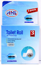 3 Scented Toilet Paper Rollers Tissue Roll Holder Replacement Spindle Bathroom