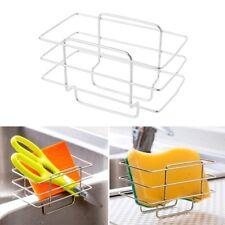 Stainless Steel Kitchen Sink Organizer Soap Brush Drainer Rack Sponge Holder