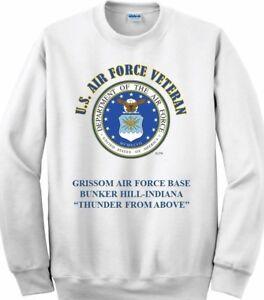 GRISSOM AIR FORCE BASE* BUNKER HILL-INDIANA*AIR FORCE EMBLEM SWEATSHIRT
