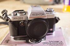 Yashica Fx-103 Program Fx Data Back Slr Body 35mm Film Camera + Instructions