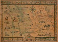 1931 Bertha Ballou Pictorial Map of Washington State