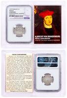 1525-1569 Prussia, Silver Groschen von Brandenburg NGC XF Story Vault SKU51970