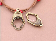 8pc Bronze Shark teeth Pendant Bead Charms Accessories wholesale  PL452