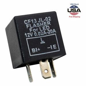 3-Pin Car LED Flasher Relay Fix Light Hyper Flash CF13 EP34 Turn Signal Decoder