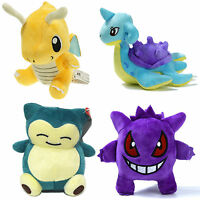 Anime Pokemon Plush Stuffed Doll Kids Teddy Toys Dragonite Gengar Lapras Snorlax