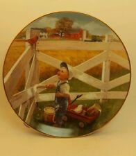 Little Farmhands Morning Song Donald Zolan Danbury Mint Collectors Plate