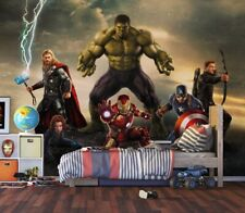 """Marvel Avengers"" photo wallpaper 360x270cm bedroom wall mural + Free adhesive"