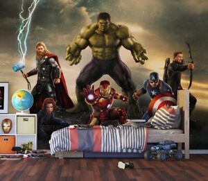 """Marvel Avengers"" photo wallpaper 360x270cm bedroom wall mural + Free adhesive"