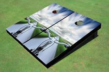 Bike Road Custom Cornhole Board