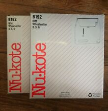 New Nukote B192 Ibm Wheelwriter 3 5 And 6 Replacement Ribbon Lot Of 2