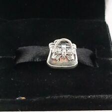 Authentic PANDORA Sterling Silver Sparkling Handbag Charm 791534CZ