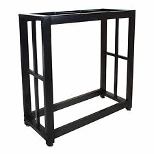 Durable Solid Steel 29 Gallon Metal Fish Water Tank Aquarium Stand Holder Black