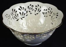 Vintage Lenox China Westbury Large Bowl Punched Pattern Chrysanthamum Porcelain