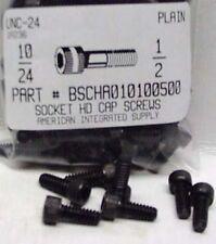 #10-24x1/2 Hex Socket Head Cap Screws Alloy Steel Black (37)