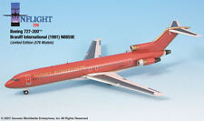 InFlight200 Braniff Airlines Ultra Red Gold Boeing 727-200 1:200 Scale N8859E
