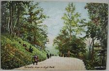 1908 Postcard~View in High Park~Toronto Ont. Canada Postmark