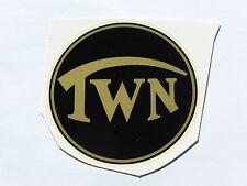 TRIUMPH TWN inscription décalque décalcomanie à eau 72802t 71mm noir / Or