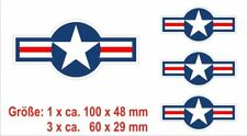 4 x 2 sticker tamaños pegatinas us air force star us United States nº 7816