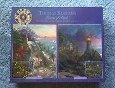 Thomas Kinkade Glow In the Dark 2 500 Pc Puzzle Set Sealed in box 2003 3551-1