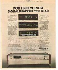 1980 TOSHIBA SA-850 Receiver Stereo Hi-Fi Vtg Print Ad