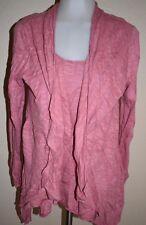 2 Piece Eileen Fisher Open Front Top XL Cardigan Sweater Tank Top Kimono Poncho