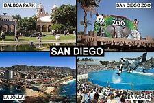 SOUVENIR FRIDGE MAGNET of SAN DIEGO CALIFORNIA USA