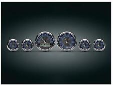Kuryakyn - 4278 - Medallion Premium Bagger MPH Gauges, Blue Tradition