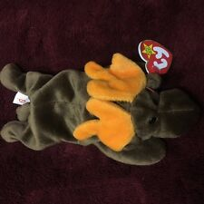 Rare Ty Chocolate The Moose Beanie Babies Baby 1993 PVC Pellets Style 4015