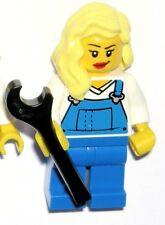 LEGO MRS. FIX-IT MINIFIGURE City Female Girl Blonde/Overalls/Mechanic/Plumber