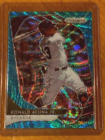 2020 Panini Prizm #184  Ronald Acuna Jr. Teal Wave Prizm Atlanta Braves