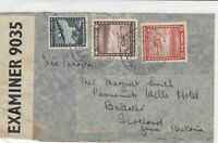 chile 1940s stamps cover ref 19525