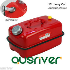 Red 10L Portable Jerry Can Built-in Spout for Boat/4WD/Car/Camping Petrol/Fuel