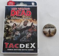 The Walking Dead Survivors Vs Walkers Battle Card Game + Sdcc Excl Button
