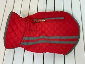 Simply Dog Red Quilted Jacket Size XS Extra Small Reflective Detail