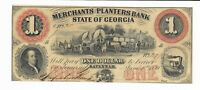 $1 1859 Merchants Planters Bank Savannah Georgia G2 Farmer Wagons Plate A