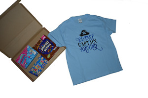 Kids Cutest Captain Around t-shirt and sweets gift letter box gift quick prezzy